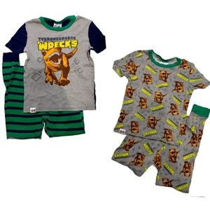 LEGO Jurassic World Boy's 4 Pc Pajama Set Size 10